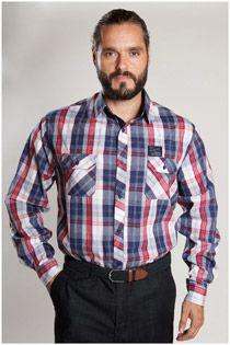 Geruiten lange mouw overhemd 107103