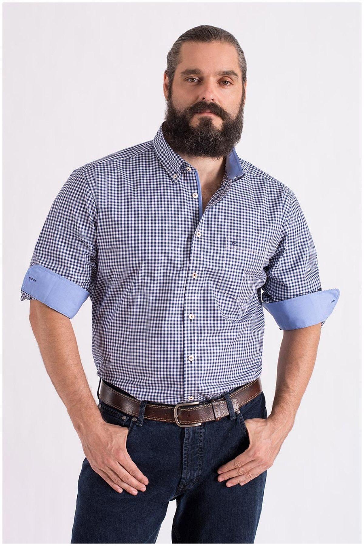 Overhemd met pepita-ruit